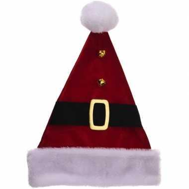 Luxe kerstmutsen met riem