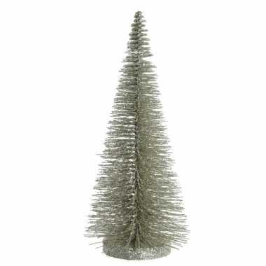 Mini decoratie kerstboompje van 30 cm in het groen