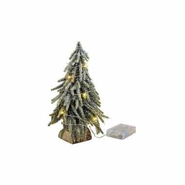Mini kerstboom met lichtjes 26 cm