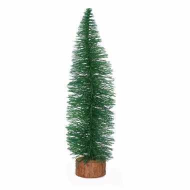 Mini kerstboom op stam 35 cm groen