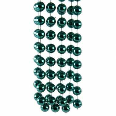 Mint groene kerstboom kralenketting 270 cm