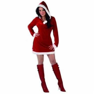 Miss santa kerstjurkje met lange mouwen