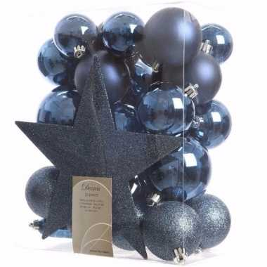 Mystic christmas kerstboom decoratie set 33-delig