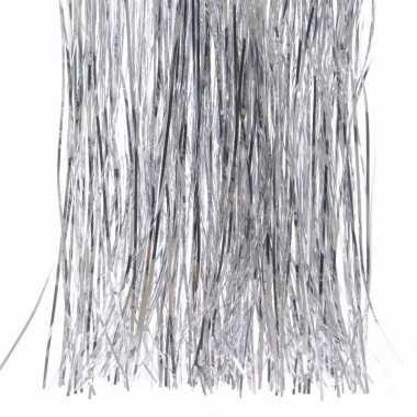 Mystic christmas kerstboom decoratie slierten zilver 50 cm