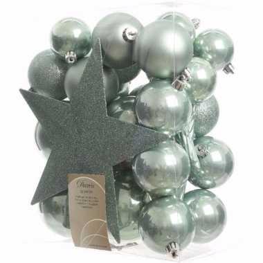Nature christmas kerstboom decoratie set 33-delig