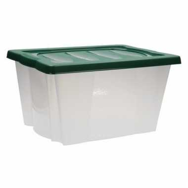 Opbergbox groen voor kerstversiering