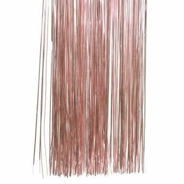 Oud roze kerstboom versiering lametta slierten