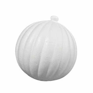 Piepschuimen kerstbal barok 8 cm