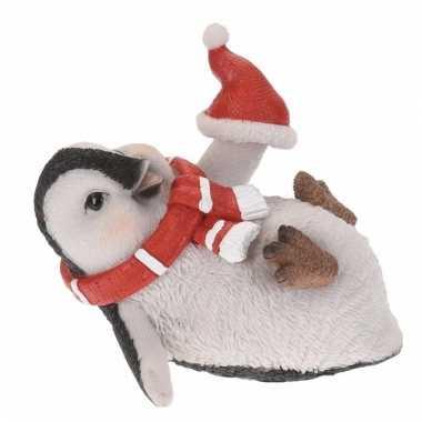 Pinguin kerstbeeldje 10 cm type 3