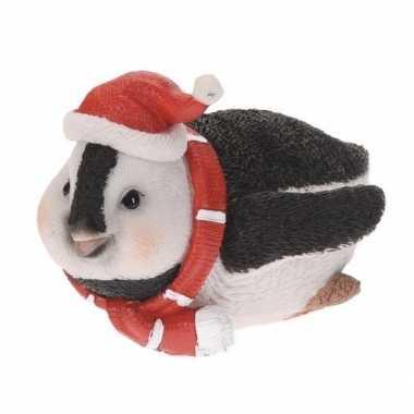 Pinguin kerstbeeldje 10 cm type 4