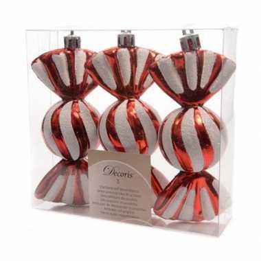 Plastic kerstboom snoepjes 6 stuks