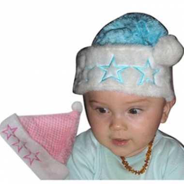 Pluche babymutsje kerst