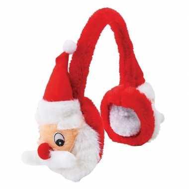 Pluche kerstmannen oorwarmers/oorkleppen voor volwassenen