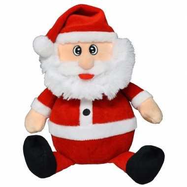 Pluche knuffeltje kerstman 25 cm