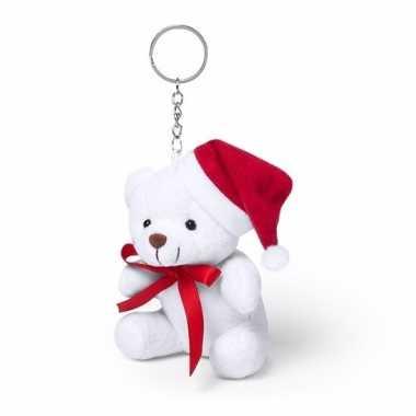 Sleutelhanger kerstbeertje 10 cm