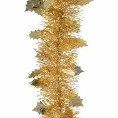 Sweet christmas kerstboom decoratie hulstslinger goud 270 cm