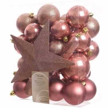 Sweet christmas kerstboom decoratie set 33-delig