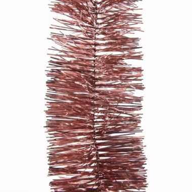 Sweet christmas kerstboom decoratie slinger oud roze 270 cm