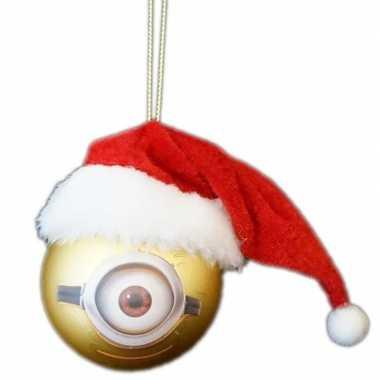 The minions kerstballen van kunststof minion carl 1x