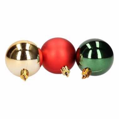 Traditional christmas 5-delige kerstballen set rood/groen