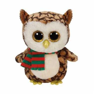Ty Beanie Boo kerst uil 15 cm