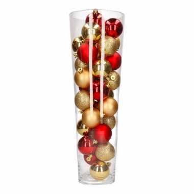 Vensterbank decoratie vaas met kerstballen uit thema ambiance christmas