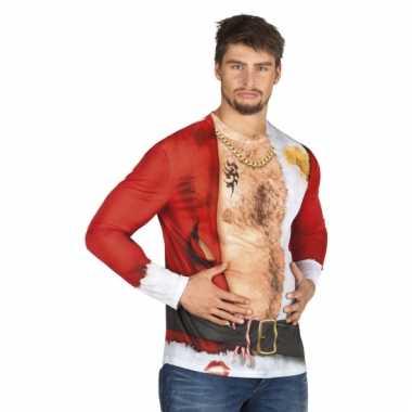 Verkleed t-shirt aso kerstman heren