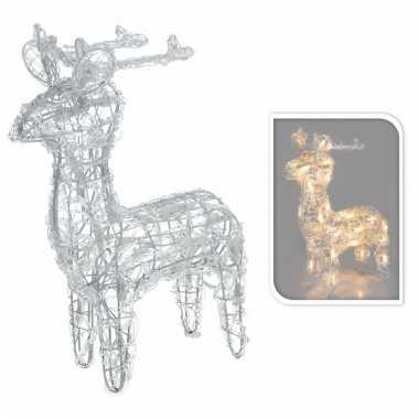 verlicht kerstfiguur rendier op led lampjes 45 cm