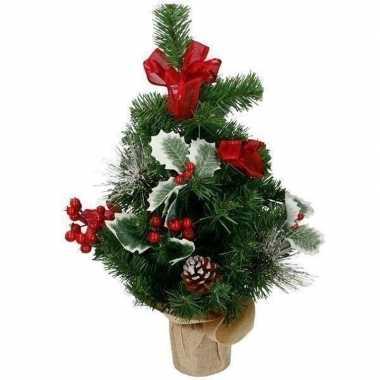 Versierde mini kunst kerstboom kerst decoratie 50 cm