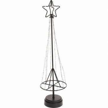 Warm witte lampjes metalen kerstboompje 50 cm