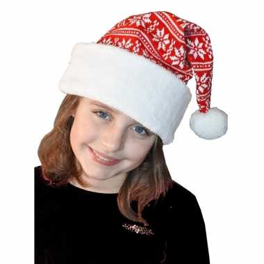 Wit met rode kerstmuts voor kinderen
