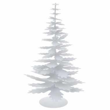 Witte glitter kerstboom van metaal 35 cm