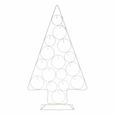 Witte kerstboom ballen standaard 56 cm