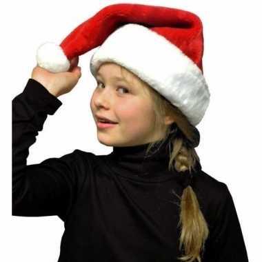 Zachte pluche kerstmuts voor kinderen