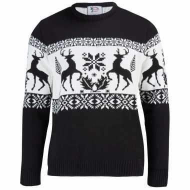 Zwarte Heren Trui.Zwarte Trui Met Rendieren Voor Heren Kerst Man Nl