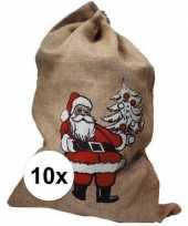 10x kerst kado zakken 85x55 cm