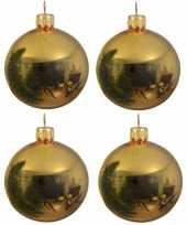 20x glazen kerstballen glans goud 10 cm kerstboom versiering decoratie