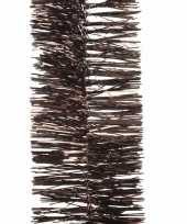 2x chocolade bruine kerstboomslinger 270 cm