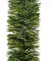 2x kerstversiering slinger groen 270 cm