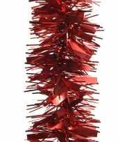 2x rode kerstboom folie slinger mat glans 270 cm