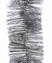 2x zilveren kerstboomslinger 270 cm