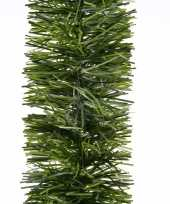 3x kerstversiering dennen slinger groen 270 cm