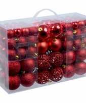 3x stuks kerstballen pakket met 100 rode voordelige kerstballen