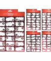 42x kerstcadeautjes naamstickers naam etiketten rood