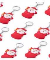 50x kerstpakketten vulling kerstman sleutelhangers 5 8 cm