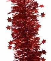 5x kerst lametta guirlandes kerst rood sterren glinsterend 10 x 270 cm kerstboom versiering decorati