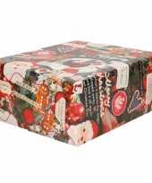 5x rollen inpakpapier cadeaupapier kerst print gekleurd met songteksten 250 x 70 cm luxe kwaliteit