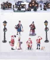 7x kerstdorp mensen set type 2