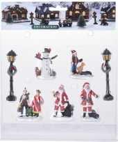 7x kerstdorp mensen set type 3 kerstman sneeuwpop