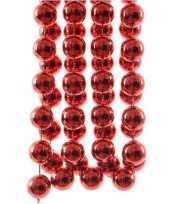 Ambiance christmas kerstboom decoratie kralenslinger xxl rood 270 cm